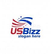 US Flag Stars Save World Logo Template