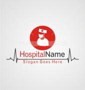 Nurse Abstract Hospital Logo Vector