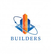 Builders Web Accounts Graph & Financial Logo Template