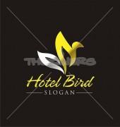 Hotel Bird Premade Floral Logo Template