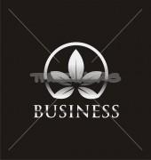 Silver Flower Leaf Premade Logo Template
