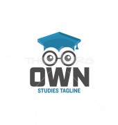 Own Studies Creative Premade Education Logo Template