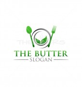 The Butter Healthy Green Food Shop Logo Template