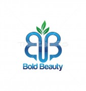 BUB Letter Abstract Beauty Greenery Logo Template