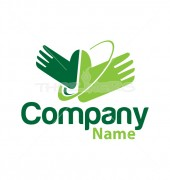 Hand with Medical Cross Logo Template