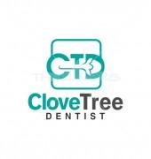 Clove Dentist Medical Solution Logo Template