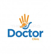 Caring Hands Creative Health Care Logo Template