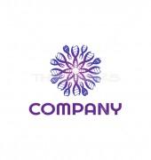 Medical Molecules Creative Healthcare Solution Logo Template