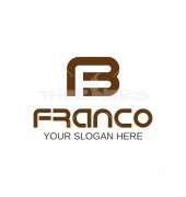 FB Letter Creative Franco Logo Template