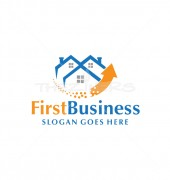 First Housing Construction Real Estate Logo Design