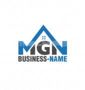 MGN Letter Housing Arrow Creative Mortgage Logo Design