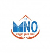 MNO Creative Housing Door Logo Template