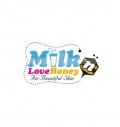 Honey Milk Beautiful Food Logo Template