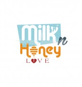 Mil-N-Honey Elegant Food Love Logo Template