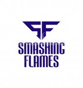 SF Letter Smashing Flames Alphabetical Logo Template