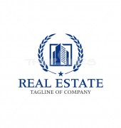Framing Building Affordable Real Estate Logo Design