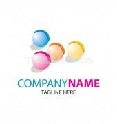 Ping Pong Colours Balls Logo Template