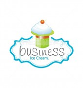 Ice-Cream with Creative Hut Logo Design