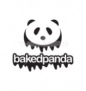 Baked Panda Design Logo Template