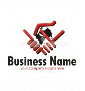 Two Hand Logo Premade Non Profit Logo Design