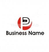 P Red Company  Elegant Premade Logo Template
