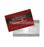 Construction Business Cards with Brick Wall Design