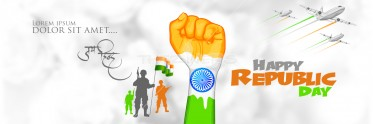 Elegant Republic Day Social Banner Template