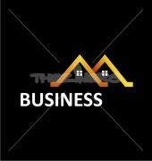 Real Estate Business Abstract Logo Outline