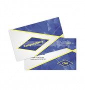 Modern Blue Crystal Double Sided Business Card